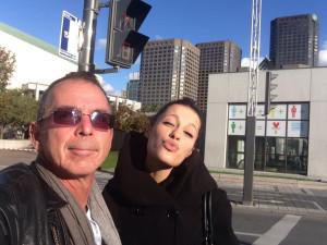 Avec Nikita, à Montréal.