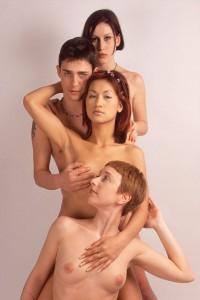 """""""XYZ, Antoine et Marie"""", il y a quinze ans. Ovidie, Ksandra, Valérie, Titof (son premier film avec moi)."""